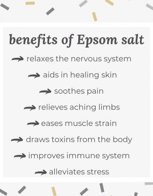 Outlines the benefits of using Epsom Salt